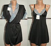 Комплект женский черный Glamour   L р  арт 001.