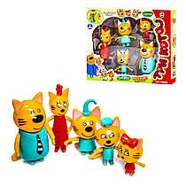 Ігровий набір Три кота 5 фігурок героїв - Коржик, Карамелька, Коппот, Мама і Тато коти