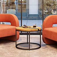 Кофейный стол Harts в стиле лофт из дуба дизайнерский из епоксидной смолы