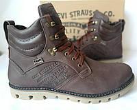 Качественные берцы  Levis сапоги жесть!) Стильные мужские зимние ботинки, фото 1