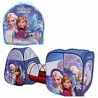 Детская игровая палатка-домик с тоннелем для девочки Frozen 8015 FZ-B Фрозен, размер 270*92*92 см