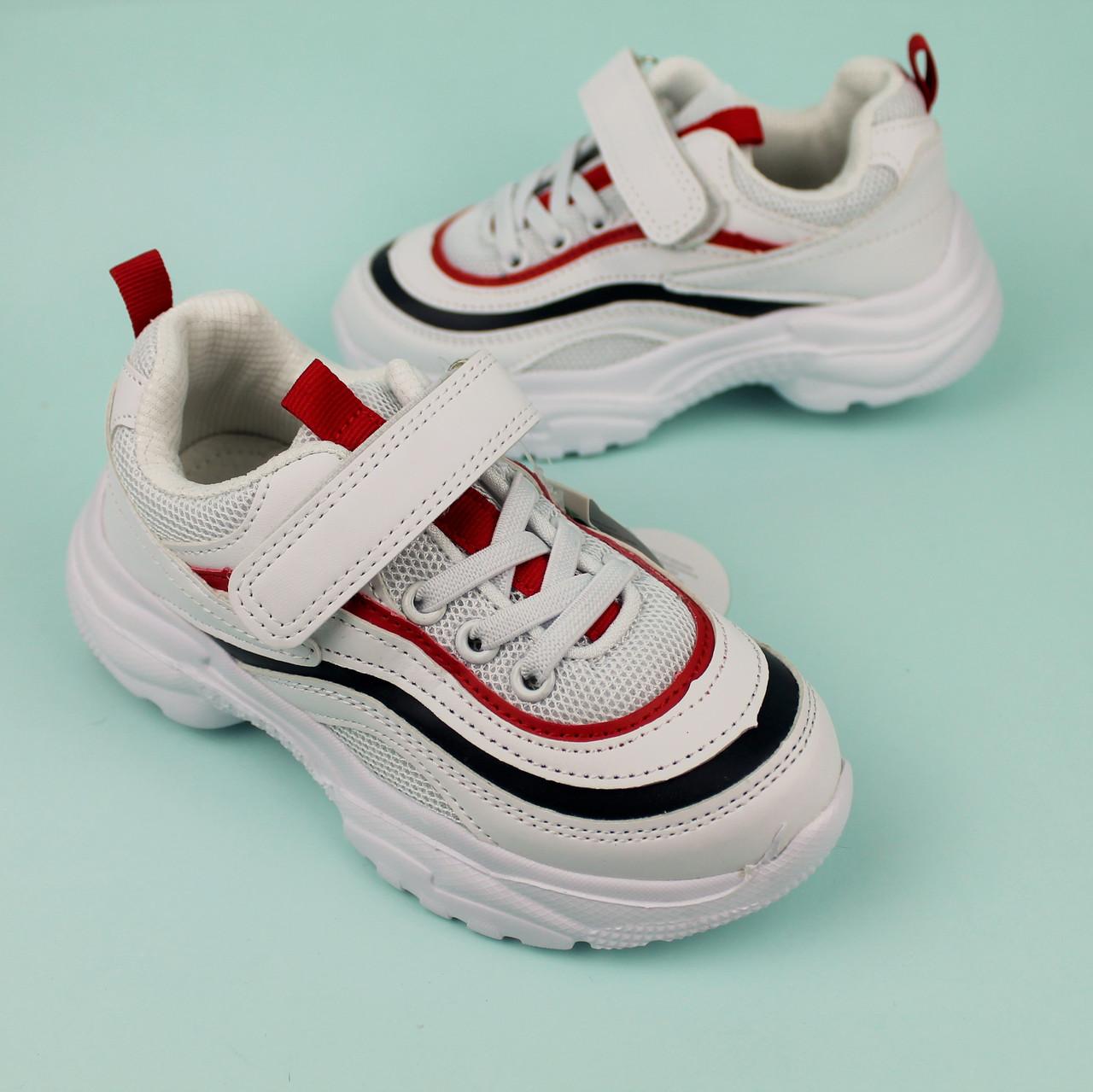 Белые кроссовки для мальчиков с полосками тм Tom.m размер 28,29,30,31