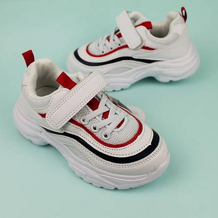Белые кроссовки для мальчиков с полосками тм Tom.m размер 28,29,30,31, фото 2