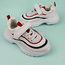 Белые кроссовки для мальчиков с полосками тм Tom.m размер 28,30,31