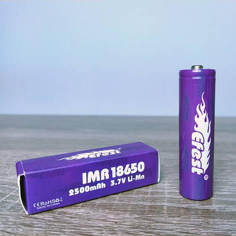 Аккумулятор Efest IMR 18650 3.7V LI-MN 2500mah, фото 2