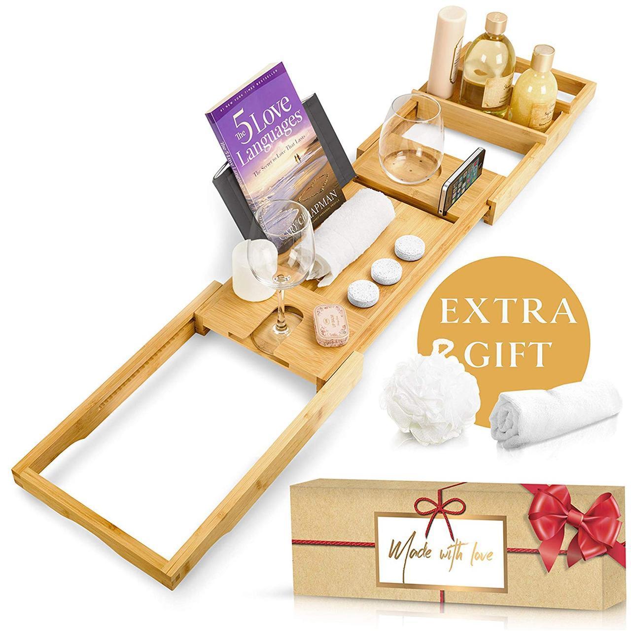 Столик для ванны Royal Bathtub Tray Set, бамбуковый