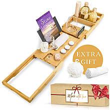 Столик для ванни Royal Bathtub Tray Set, бамбуковий