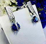 Стіна в сріблі з синім цирконом Мрія, фото 5