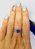 Стіна в сріблі з синім цирконом Мрія, фото 9