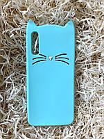Силиконовый чехол Cat для Samsung A50, мятный, фото 1