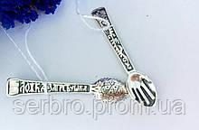Серебряная сувенирная ложка загребушка