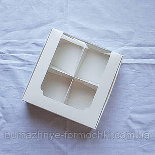Коробка для десертов, 200*200*60, белый