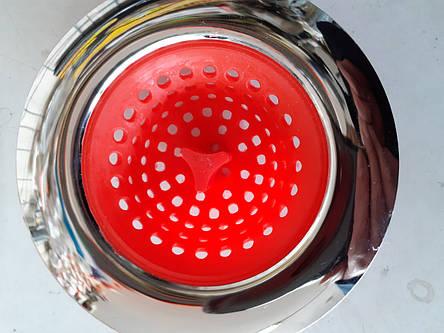 Сіточка для збору сміття в раковину ( Ситечко для раковини ) 11*75 мм, нержавіюча сталь хромована (BKL 1161 - 41, фото 2