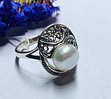 Колечко с белым жемчугом в серебре Шарлота, фото 3