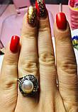 Колечко с белым жемчугом в серебре Шарлота, фото 4