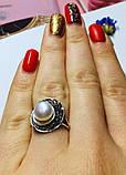 Колечко с белым жемчугом в серебре Шарлота, фото 5