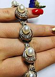 Браслет в сріблі з білим золотом і перлами Люція, фото 4