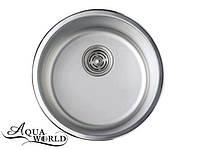 Мойка кухонная нержавеющая сталь круглая 420 мм Aqua-World