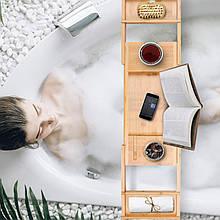 Столик для ванни бамбуковий Perfect Life Ideas