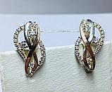 Серебряные сережки с россыпью цирконов Анита, фото 2