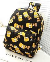 Рюкзак молодежный,городской Симпсоны, БАРТ, Simpsons.