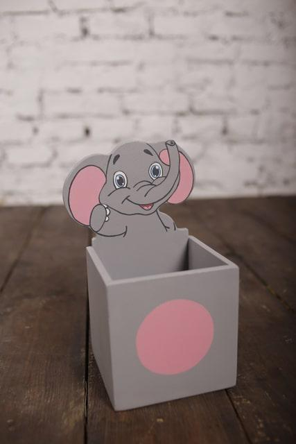 """Підставка-пенал для олівців """"Слоненя"""""""