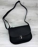 Черная женская сумка на пояс бананка маленькая кросс боди через плечо, фото 1