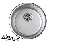 Мойка кухонная нержавеющая сталь круглая 440 мм Aqua-World