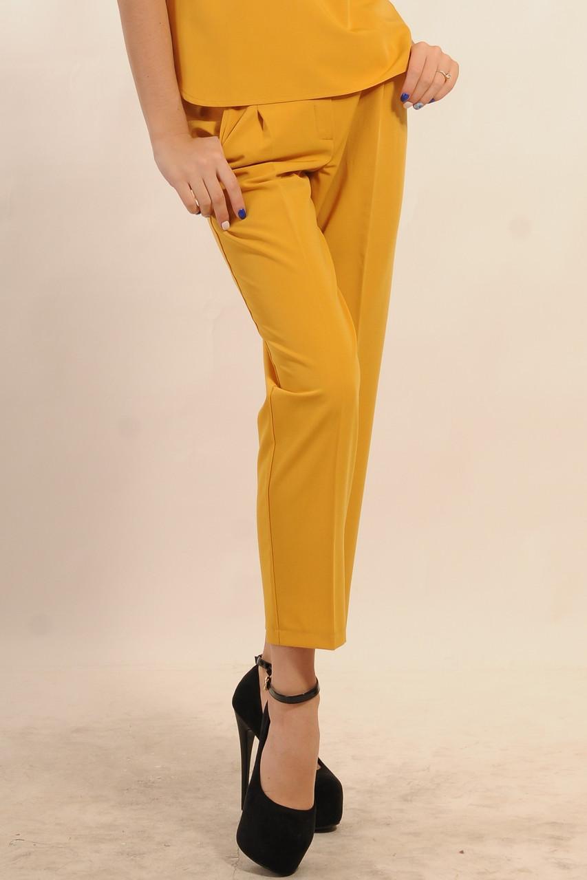 Прямые брюки классического кроя, зауженные, со стрелками, с современной и модной длиной - по щиколотку, фото 1