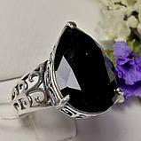 Срібний перстень з чорним каменем Агата, фото 4