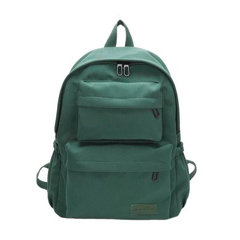 Молодежный зелёный  рюкзак однотонный с водонепроницаемой пропиткой.