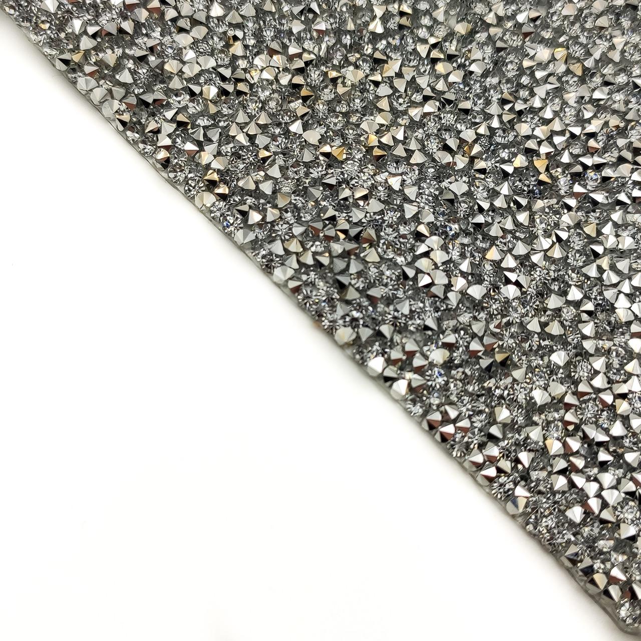 Фотозона, коврик силиконовый инкрустированный, серебро