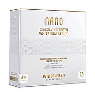 Nano Dissolving Teeth Whitening strips, 28 шт, отбеливающие полоски растворимые, WhiteWash Laboratories Nano