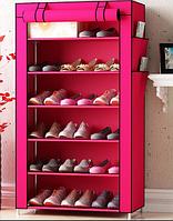 Складной двойной каркасный тканевой шкаф для обуви