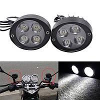 Противотуманные LED фары  для мотоцикла, скутера, авто, DRL 24
