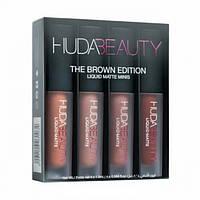 Набор жидких матовых помад Huda Beauty The Brown Edition