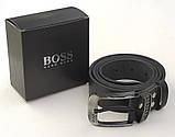 Мужской кожаный ремень Hugo Boss для джинс, фото 2