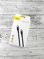 Кабель USB Type-C and Type-C Baseus CATKLF-GG1 Cafule Cable 2.0A 2M 60W (Black)