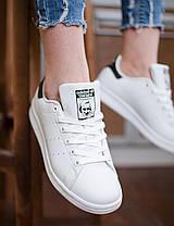 Женские кроссовки в стиле Adidas Stan Smith White/Black, фото 3
