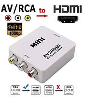 Конвертер адаптер из AV ( RCA) в HDMI 1080P