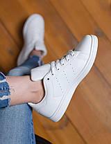 Женские кроссовки в стиле Adidas Stan Smith All White, фото 2