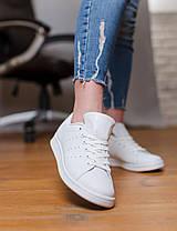 Женские кроссовки в стиле Adidas Stan Smith All White, фото 3