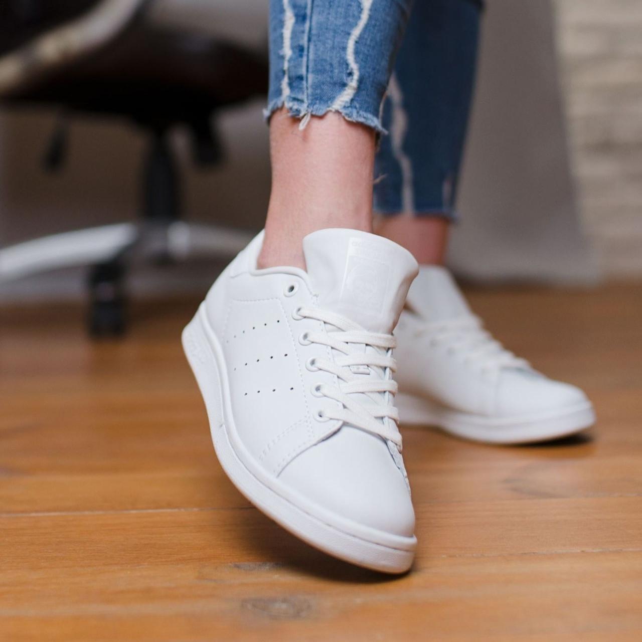 Женские кроссовки в стиле Adidas Stan Smith All White