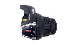 Ручка переключения правая - грипшифт Shimano Tourney SL-RS35 (6 скоростей)