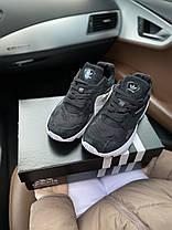 Женские кроссовки в стиле Adidas Falcon Black/White, фото 3