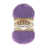 Зимняя пряжа (20% шерсть, 80% акрил; 100г/550м) Alize Angora Gold 206 (фиолетовый)