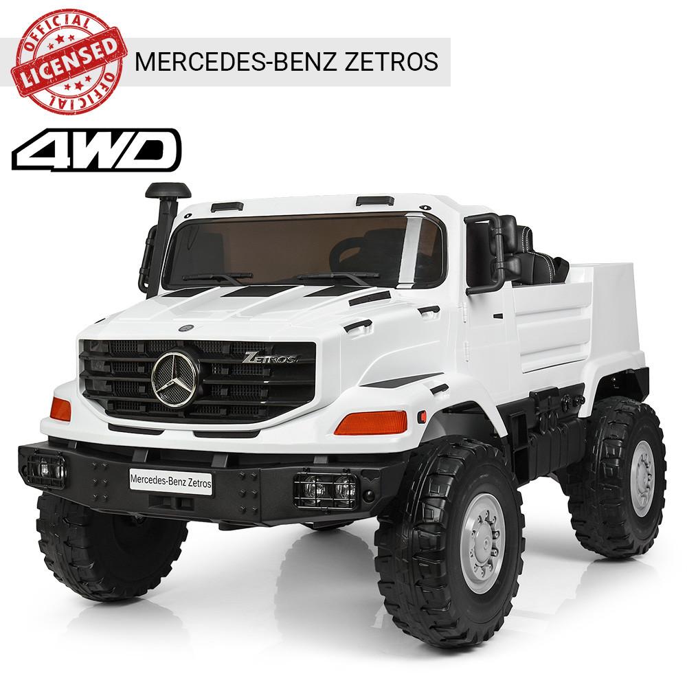 Детский электромобиль Mercedes-Benz Zetros M 3990EBLR-1 Белый