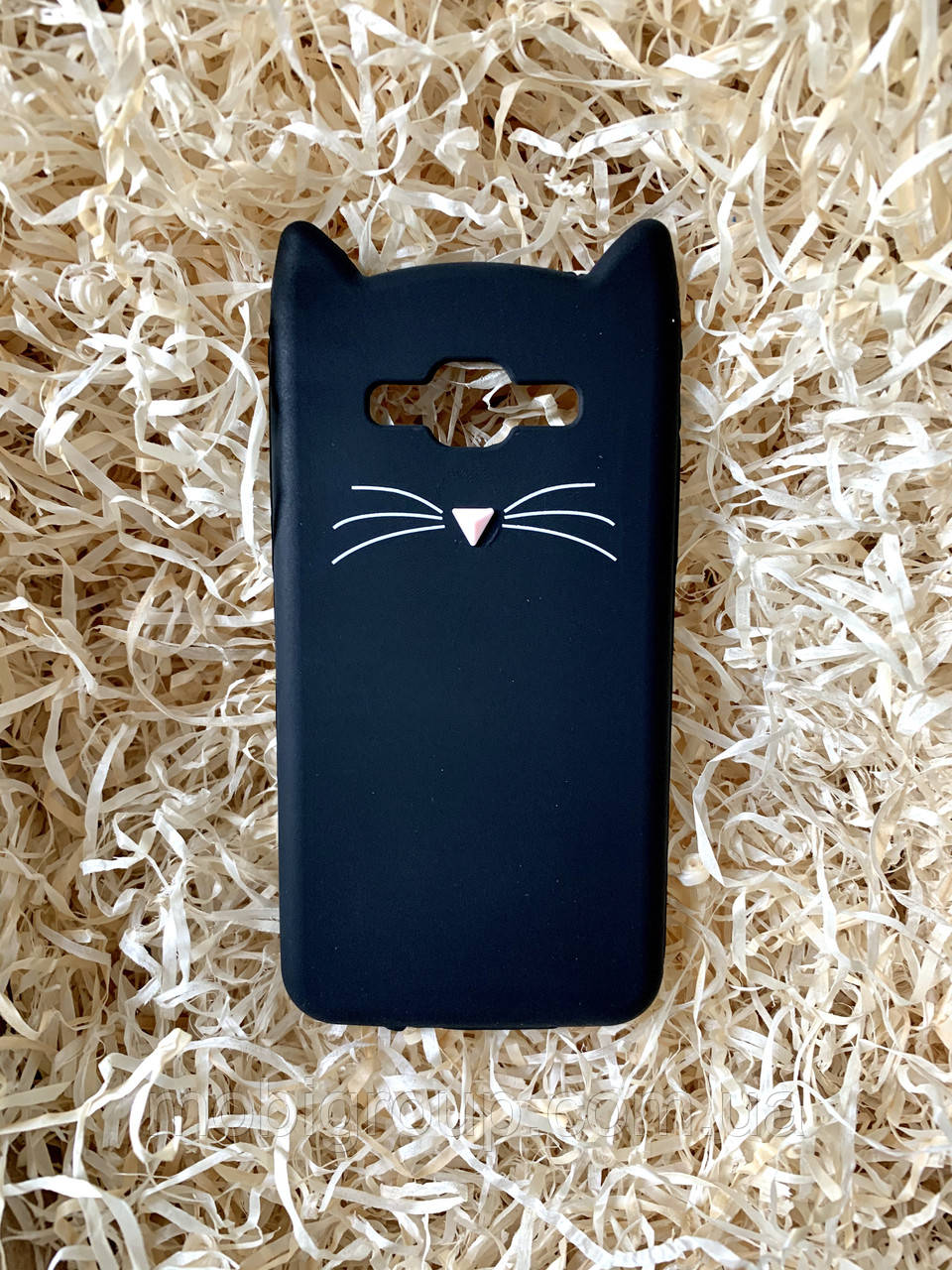 Силиконовый чехол Cat для Samsung J5, черный