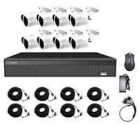 Комплект видеонаблюдения  AHD KIT 1080Р Full HD на 8 камер