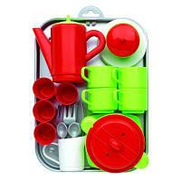 Игровой набор Ecoiffier Chef-Cook с посудой и подносом 32 аксессуара (000972)